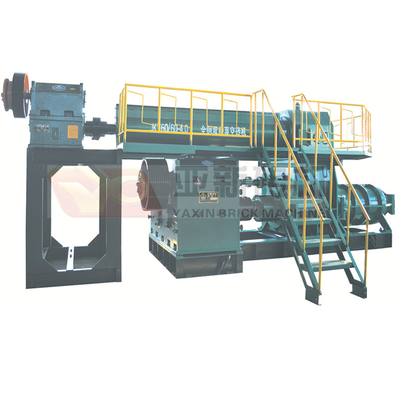 The JKY 4.0 two stage vacuum brick making machine